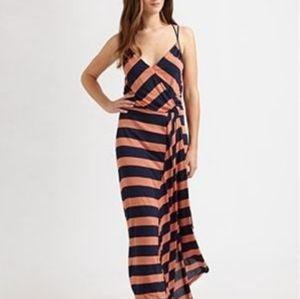 Addison Ruffled Maxi Midnight Com Maxi Dress Small
